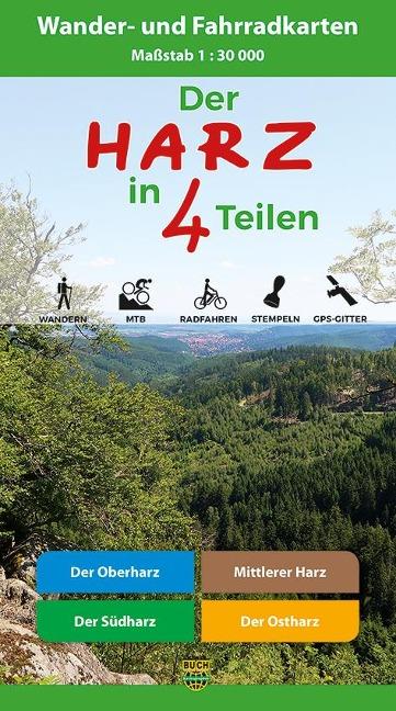Der Harz in 4 Teilen. Kartenset 1 : 30 000 -