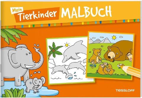 Mein Tierkinder-Malbuch -