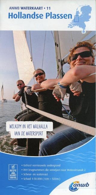 Hollandse Plassen 1:50 000 Waterkaart -