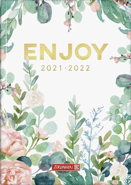 """""""BRUNNEN 1072110142 Wochenkalender/Schülerkalender 2021/2022 """"""""Enjoy"""""""""""" -"""