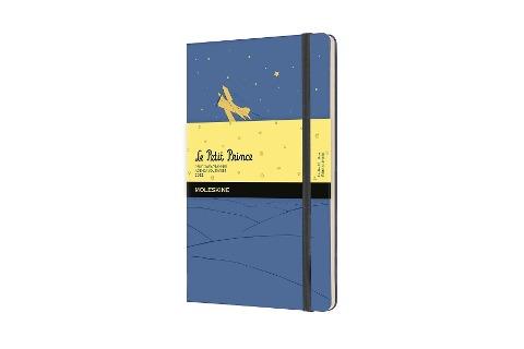 Moleskine 12 Monate Tageskalender 2022 Der kleine Prinz, Large/A5, 1 Tag = 1 Seite, Gebunden, Vergissmeinnicht Blau -