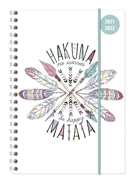 Collegetimer A5 Woche Hakuna Matata Ringbuch 2021/2022 -