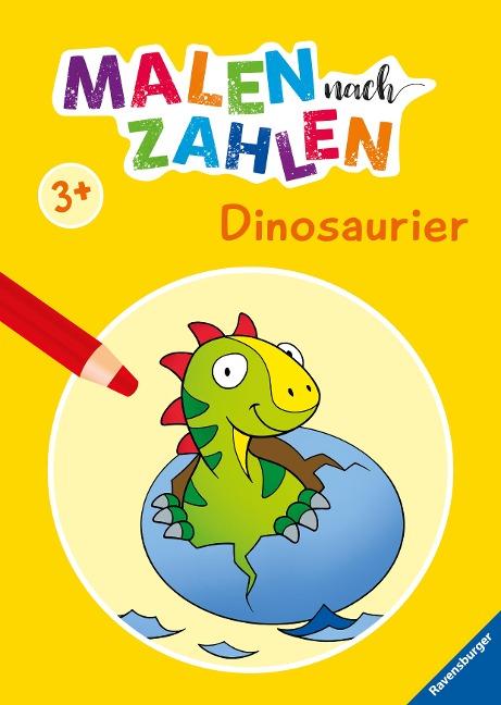 Malen nach Zahlen ab 3 Jahren: Dinosaurier -