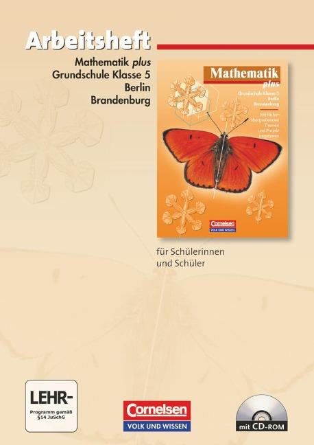 Mathematik plus. Grundschule 5. Schuljahr. Berlin und Brandenburg. Arbeitsheft -