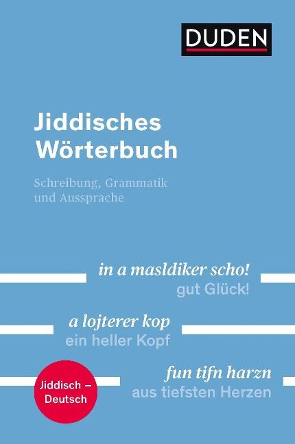 Duden - Jiddisches Wörterbuch - Simon Neuberg, Ronald Lötzsch