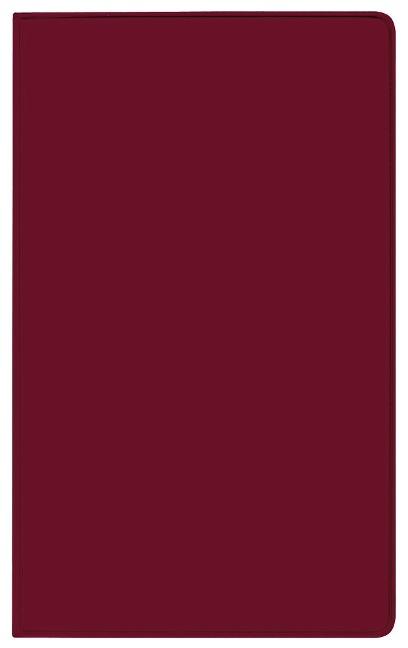 Taschenkalender Saturn Leporello PVC burgund 2022 -