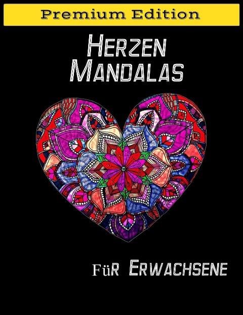 Herzen Mandalas für Erwachsene - Only1million