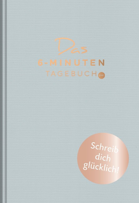 Das 6-Minuten-Tagebuch pur (aquarellblau) - Dominik Spenst