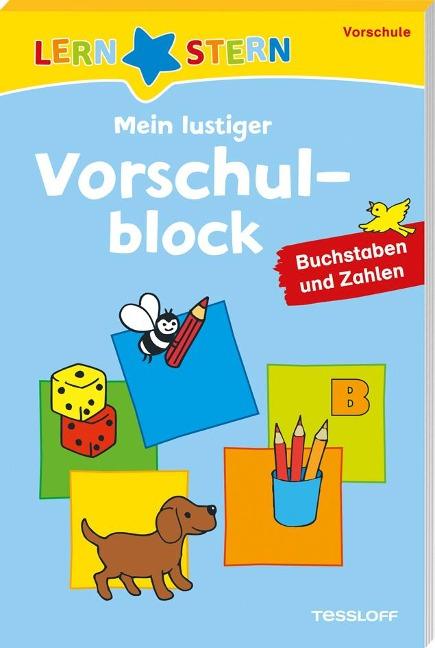 Lernstern: Mein lustiger Vorschulblock. Buchstaben und Zahlen ab 4 Jahren -