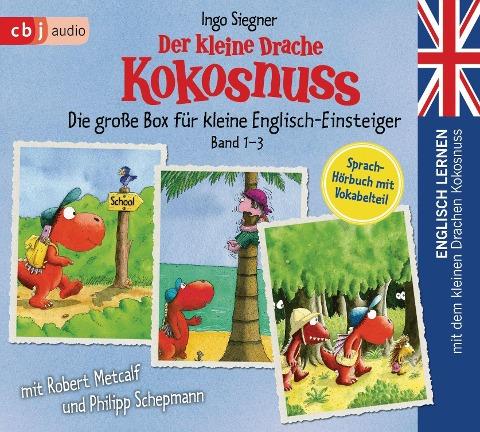 Englisch lernen mit dem kleinen Drachen Kokosnuss - Die große Box für kleine Englisch-Einsteiger (Band 1-3) - Ingo Siegner