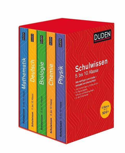 Duden Schulwissen 5. bis 10. Klasse (5 Bände) -