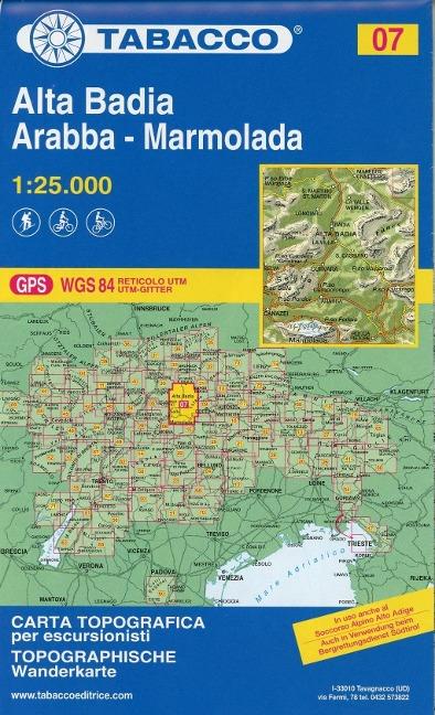 Tabacco Wandern 1 : 25 000 Alta Badia Arabba - Marmolada -