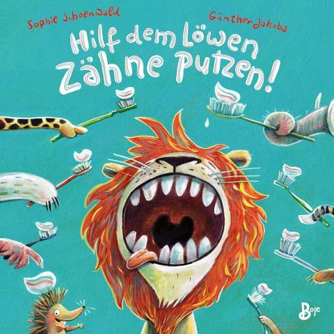 Hilf dem Löwen Zähne putzen! (Pappbilderbuch)