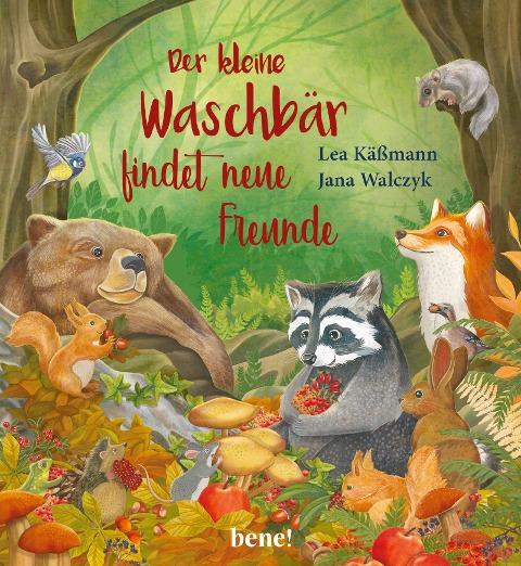 Der kleine Waschbär findet neue Freunde - ein Bilderbuch für Kinder ab 2 Jahren