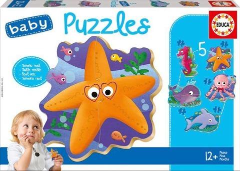 Educa Puzzle. Baby Puzzles Sea Animals 2x2/2x3/4 Teile -