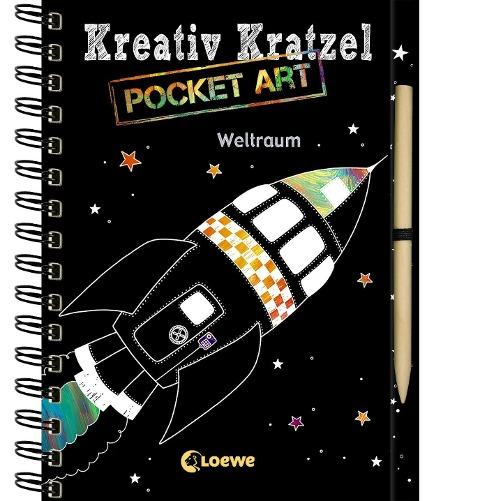 Kreativ-Kratzel Pocket Art: Weltraum -