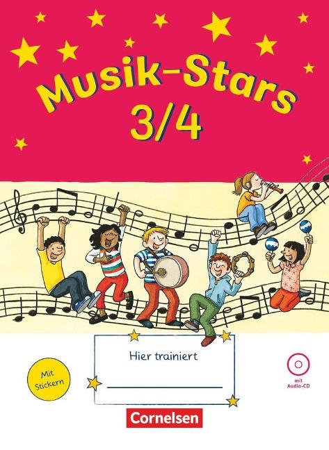 Musik-Stars - Grundwissen 3./4. Schuljahr - Übungsheft mit Lösungen und Audio-CD - Solveig Wezel