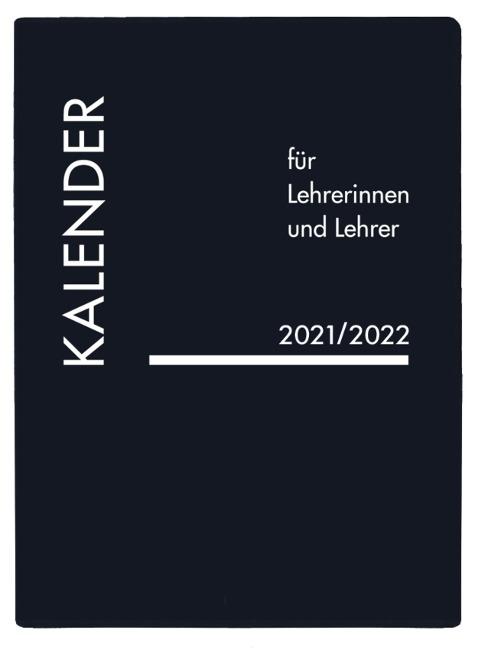 Lehrerkalender PVC schwarz 2021/2022 -