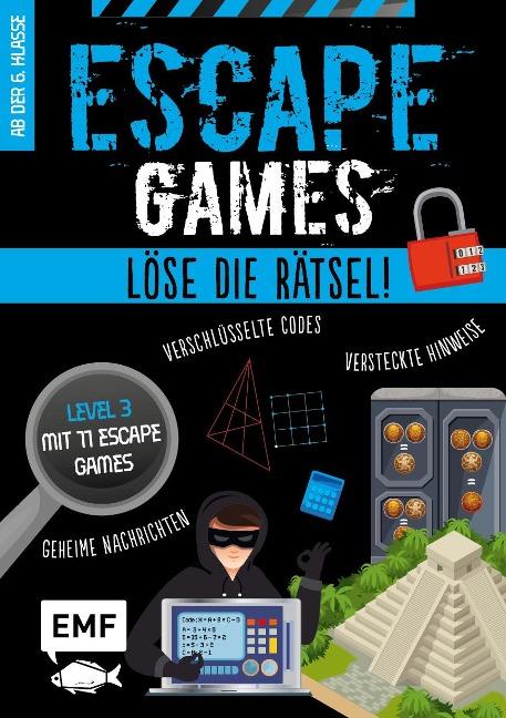 Escape Games Level 3 (blau) - Löse die Rätsel! - 12 Escape Games ab der 6. Klasse - Arnaud Durand, Julien Durand