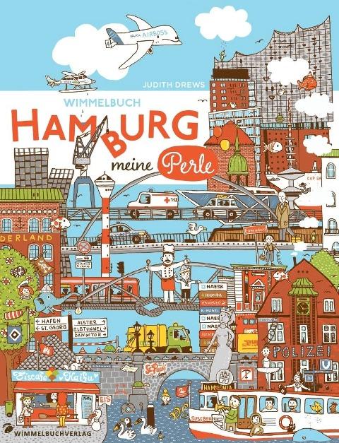 Hamburg Wimmelbuch. Hamburg meine Perle -