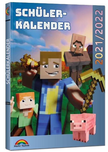 Schülerkalender 2021/2022 mit Minecraft inklusive Tipps, Tricks & Crafting-Rezepten - David Haberkamp
