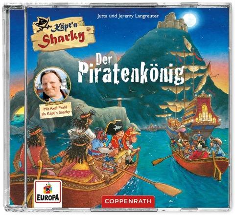 CD Hörspiel: Käpt'n Sharky - Der Piratenkönig - Jutta Langreuter, Jeremy Langreuter